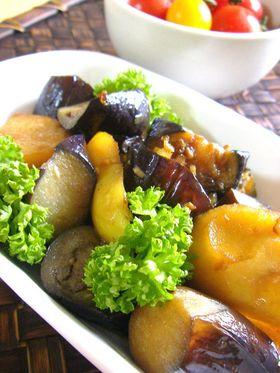 ナスとジャガイモの醤油ドレマリネ