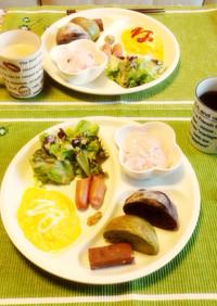 簡単朝食プレート