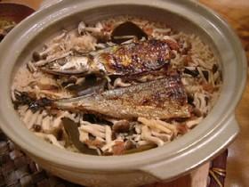梅と生姜風味!土鍋でさんまの炊き込みご飯