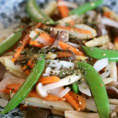 野菜のペペロンチーノ風