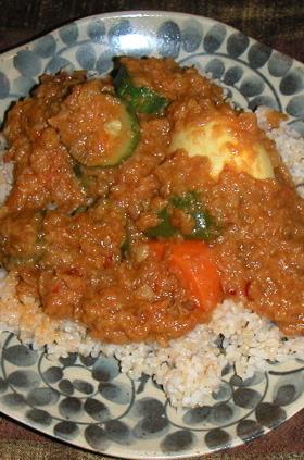 夏野菜と卵のカレー