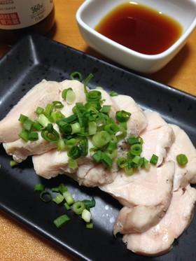 ダイエットに☆炊飯器で簡単しっとり蒸し鶏