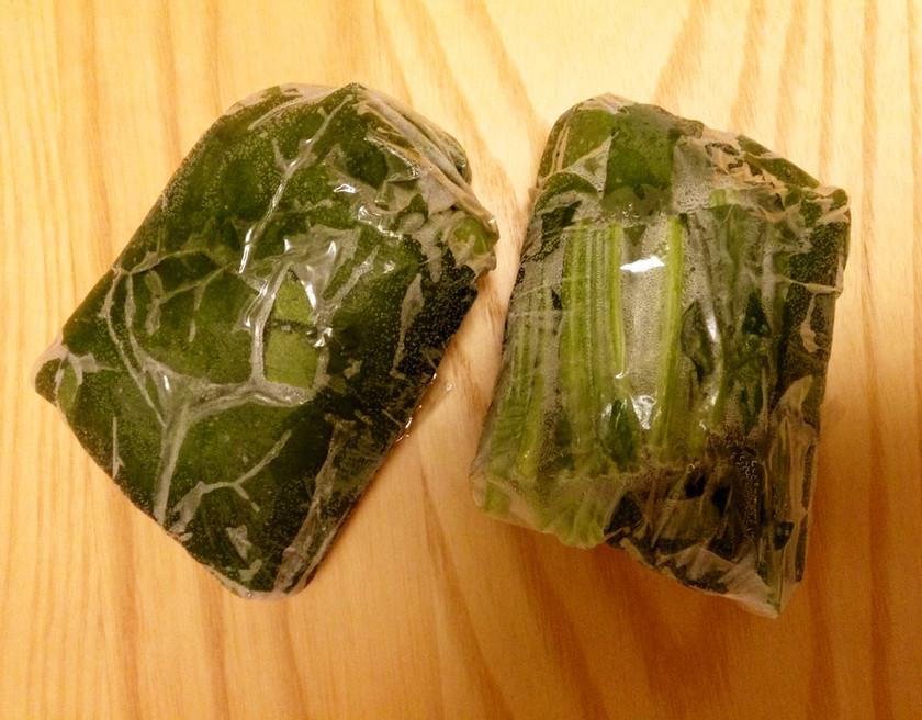 茹でずにそのまま冷凍保存 ほうれん草
