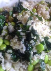 枝豆とケールのご飯