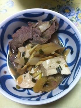 ねぎたっぷり肉豆腐