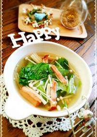 健康美的えのきとレタスしゃっきりスープ