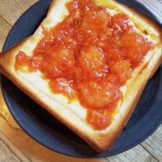 簡単リメイク!海老チリ チーズ トースト