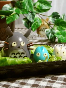 お家でデコ☆ゆで卵でトトロ…☆