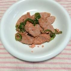 魚肉ソーセージとピーマンの明太子炒め
