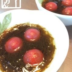 【簡単】もずく酢トマト