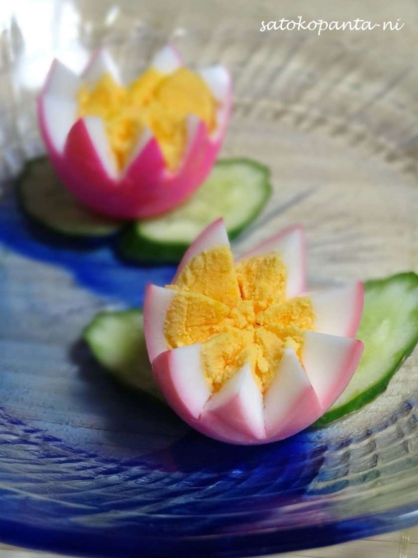お家デコ☆ゆで卵で爽やかな蓮の花