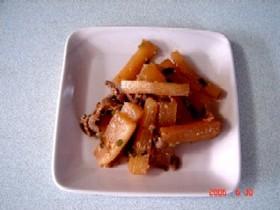 豚肉と大根の味噌炒め