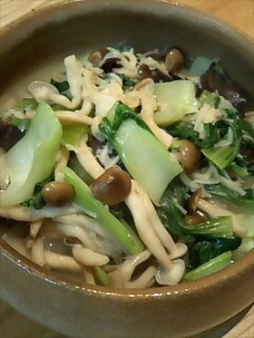 青梗菜の炒め煮