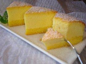 チーズたっぷり♪スフレチーズケーキ。