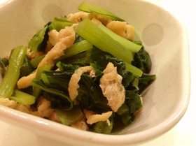 簡単美味☆ごま油香る小松菜と揚げのお浸し