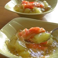 はぐら瓜と和風スープのジュレ仕立て