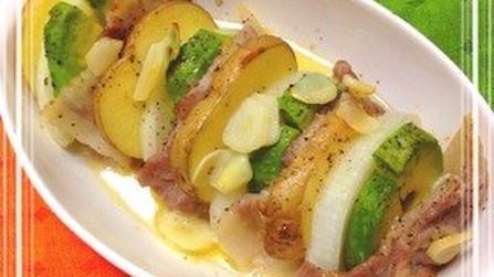 簡単調理!春野菜&アボカドのポークグリル