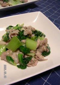 豚肉とチンゲン菜のにんにく塩炒め