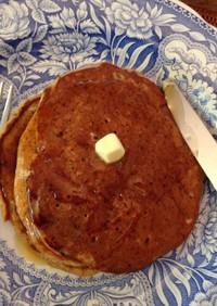 ヴィーガン黒糖のオートミールのパンケーキ