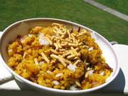 ポハ:インドの米フレークの写真
