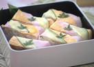 新生姜と魚肉ソーセージの彩り押し寿司