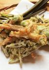簡単♡わらびとさつま揚げ、枝豆の天ぷら