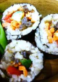 蕗の佃煮で巻き寿司