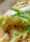 塩麹を使ったふわとろ卵の親子丼