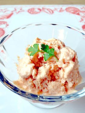 簡単ヘルシー♪野菜ジュースで豆腐アイス