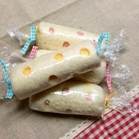 キャンディ風 水玉ロールサンドイッチ