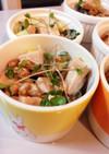 納豆ときゅうりと魚肉ソーセージのマヨ和え