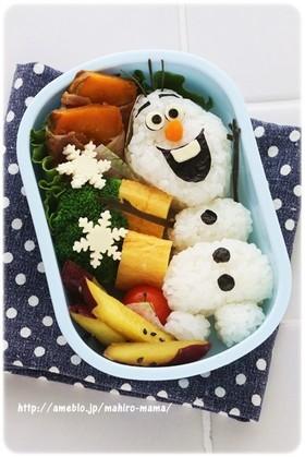 クリスマスにも♡アナ雪 オラフ キャラ弁