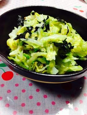 簡単!副菜♡キャベツと海苔のナムル♡