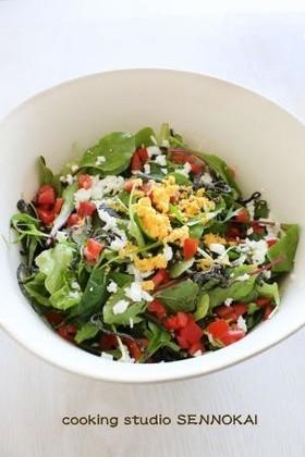 簡単☆レタスと水菜のシンプルサラダ