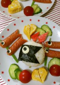 簡単!こどもの日☆鯉のぼりプレート