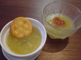 スイカのスープ2種