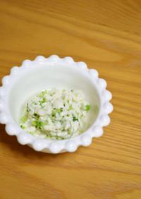離乳食♬『白身魚とブロッコリーの白和え』