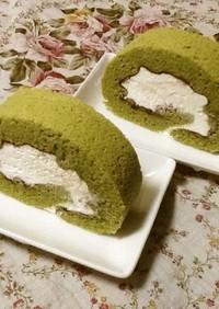 糖質制限!大豆粉で抹茶ロールケーキ
