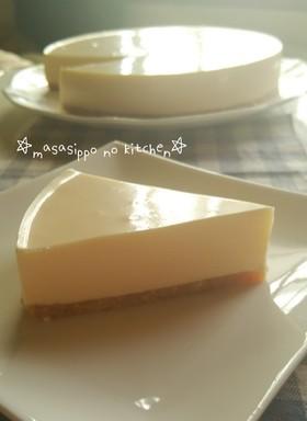 なめらか濃厚♡カスタードレアチーズケーキ