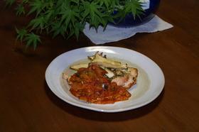 鶏の胸肉ラタトゥーユソース