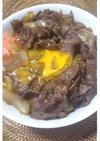 給料日 料理初心者に贅沢「すき焼き肉丼」