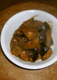 茄子の辛子味噌炒め。