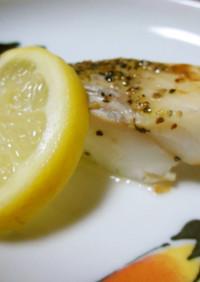 真鱈の塩レモンペッパーソテー