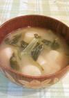 小松菜とお麩の味噌汁