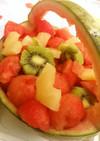 夏が来た!小玉スイカでフルーツポンチ