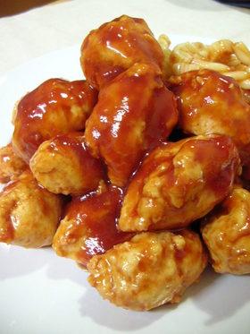 ★鶏団子の甘酢和え★