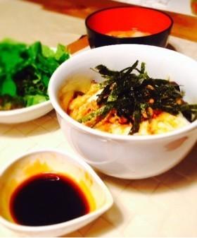 夏だ簡単ネバネバ丼のタレ(海鮮やナス)