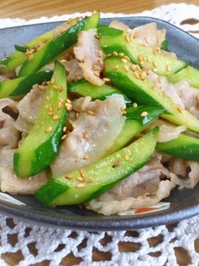 豚肉ときゅうりの中華炒め✜