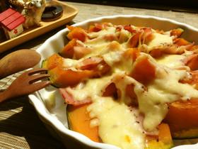 かぼちゃ&ベーコン✿とろ~りチーズ焼き