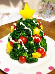クリスマスツリー☆サラダの写真
